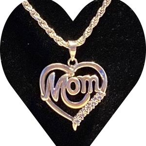 Mom Pendant with 925 silver chain